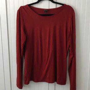 Eileen Fisher Red Long Sleeved Top - Size L